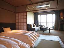 【和みフロア】和室ツインF~ツインベッドとソファベッドで3名宿泊可能
