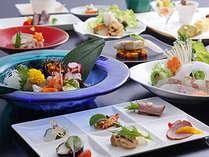 桜鯛と淡路牛ステーキを味わう創作会席(イメージ)