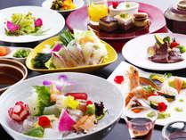 春の花をイメージした料理の数々