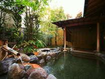 【女湯「千福の湯」】翌朝には入れ替えにより男湯に。趣きが異なるそれぞれの湯殿をご堪能ください