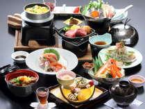 【春の満足会席】ずわい蟹など島根の旬の食材をふんだんに使用した会席です。