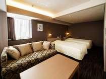 ■エグゼクティブツインルーム■37平米/120cm幅ベッドで添い寝も安心♪
