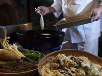 旬のお魚&お野菜を揚げたてサクサクの天麩羅にてお召し上がりいただけます。