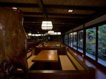 お食事会場の一つ『いろり』 ※会場は変更になる場合もございます。