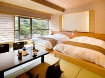 6階渓谷側 特別和洋室(無料マッサージチェア付き)