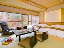 6階渓谷側 特別和洋室(マッサージチェア付)