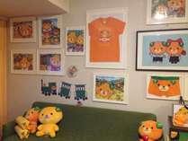 【本館客室】みきゃんルームは、部屋中みきゃんだらけの可愛らしいお部屋です。