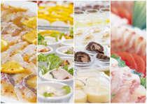 80品の料理が並ぶ和洋バイキングは好評!