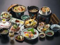 ~瀬戸内会席~お野菜&魚貝に愛媛産の料理が勢揃いの料理一例