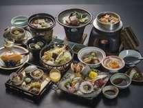 ~石鎚会席~瀬戸内の食材をふんだんに使った料理一例