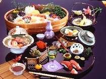 季節の郷土会席・イメージ【地産地消、地元食材のみ使用しております】
