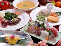 *マーガレットオリジナルの欧風家庭料理です。地魚お造り&伊豆牛&金目西京焼コース