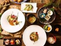 【和モダン美食コース】お料理はその日の気候に合わせて 毎日変わります。