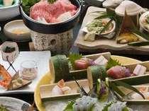露天風呂付客室(春)料理イメージ
