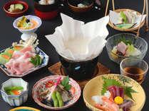 【夕食一例】板前が作る彩り豊かな会席料理をお召し上がりください
