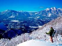 斑尾高原スキー場からの眺め