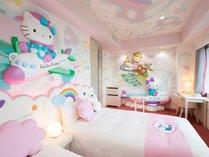 ハローキティ ルーム<Pink Flight>飛行機に乗ったハローキティがみなさまをお出迎え☆