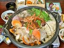 伊勢海老付【海鮮ワイン蒸】黒潮で育まれたその日仕入れの新鮮な魚介類。