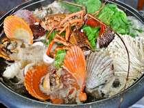 伊勢海老付【海鮮ワイン蒸】黒潮で育まれたその日仕入れの新鮮な魚介類。女将考案のご夕食です