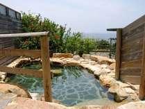 朝風呂もお楽しみください。≪太平洋眺望≫本館足摺温泉露天風呂。