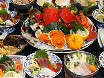 鰹のたたき付海幸満載おまかせ皿鉢料理★露付客室