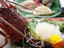 贅沢で豪華な活伊勢海老のお造りのぷりぷりの食感を心行くまでご堪能くださいませ。