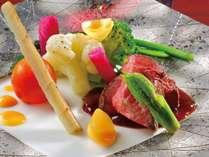 ラミュゾン料理「洋彩和膳」の一例