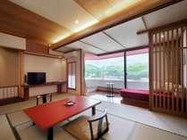 ■本館客室「上層階寛ぎのフロア和洋室」(10畳&モダンツインベット)畳部分イメージ