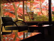 ■別館客室「別館静龍和室」(12.5畳)1階特別室の眺望秋イメージ