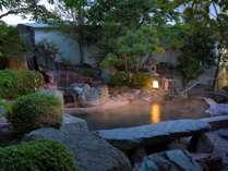 鬼怒の砦 露天風呂夜景