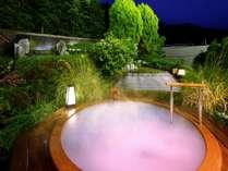【きぬの夢】露天風呂「シルクバス」夜イメージ