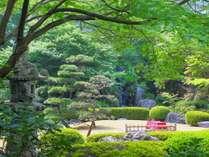 緑深まる庭園には滝や池があり、涼しげな夏景色をご覧いただけます。