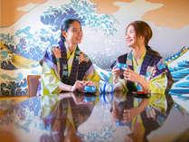 全館リニューアル客室は清潔感あり伝統の日本画を現在に