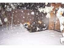 雪見露天 雪見風呂