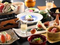 【夕食一例】華美なお料理は出していませんが、やさしい味わいを大切にしております
