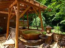 【夏の露天風呂】緑が気持ちいい露天風呂