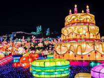 東京ドーム2個分、600万球の輝き「グランイルミ」は当館から30分