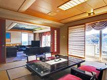 ●露天風呂付き客室は角部屋の海の見えるお部屋です。
