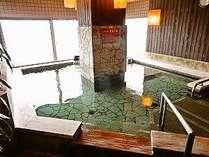 ◆男湯【内湯】新潟市街が一望できます。