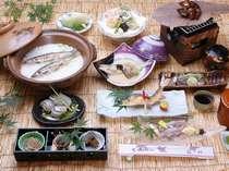 夏の味覚!紀州有田川鮎会席料理