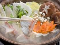 「クエ鍋コース」★獲れたての味!紀州沖の幻の高級魚
