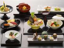 *【贅沢日本料理会席】(お食事一例)/信州産牛肉など地元の厳選食材をふんだんに使用した会席料理,長野県,シティガーデンホテル信濃路