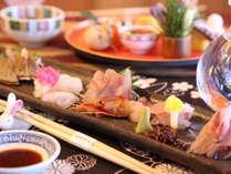 【北陸と言えばお魚!】富山旬のお刺身盛込み会席 天然の生け簀・富山湾の朝穫れ鮮魚だからウマイ!