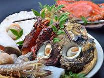 【人気No.3】竹崎かに+海鮮焼きプラン(カキ・サザエなど)海鮮焼きプラン