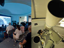 【天文台】大型スクリーンや外での「星座・天体説明会」や「大型天体望遠鏡での観察会」を毎晩開催!!