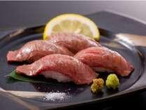 千葉県産かずさ和牛の炙り寿司 1,200円追加一品料理