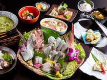 桜鯛と地魚の春会席
