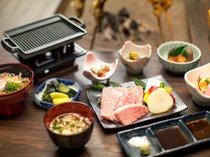 【お肉好きにはこれ!!】囲炉裏端で徳島県産霜降り黒毛和牛ステーキをリッチにプラス☆ステーキプラン♪
