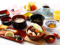 彩り豊かな和朝食♪食物アレルギーをお持ちの方や洋朝食ご希望の方は、事前にお申付け下さい。