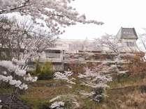 春には桜に囲まれ、テラスからの眺望は格別です。